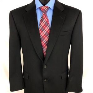Hickey Freeman HF Sport Coat Cashmere Black A20